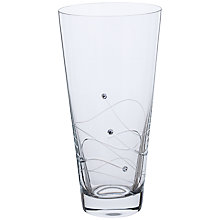 Buy Dartington Crystal Glitz Vase, H25cm Online at johnlewis.com