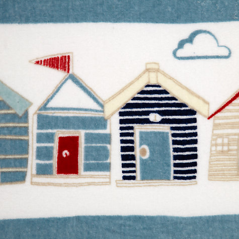 Buy John Lewis Coastal Beach Huts Beach Towel, Blue Multi Online at johnlewis.com