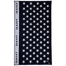 Buy Gant All Over Star Beach Towel, Navy Online at johnlewis.com
