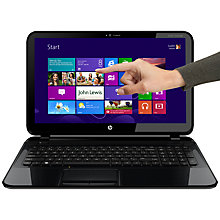 "Buy HP Pavilion TouchSmart 15-B130SA Laptop, AMD A4, 1.9GHz, 8GB RAM, 1TB, 15.6"" Touch Screen, Black Online at johnlewis.com"
