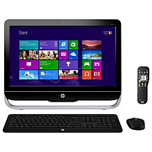 "Buy HP Pavilion 23-B115EA AIO PC, Intel Pentium, 2.9GHz, 4GB RAM, 1TB, 23"", Black Online at johnlewis.com"