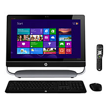 "Buy HP Envy TouchSmart 23-D135 AIO Desktop, Intel Core i3, 3.3GHz, 6GB RAM, 2TB, 23"" Touch Screen, Black Online at johnlewis.com"