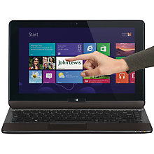 "Buy Toshiba Satellite U920T-108 Convertible Ultrabook, Intel Core i3, 1.8GHz, 4GB RAM, 128GB SSD, 12.5"" Touch Screen Online at johnlewis.com"