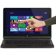 "Buy Toshiba Satellite U920T-117 Convertible Ultrabook, Intel Core i5, 2.4GHz, 8GB RAM, 128GB SSD, 12.5"" Touch Screen, Silver Online at johnlewis.com"