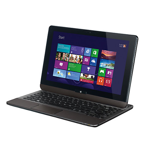 "Buy Toshiba Satellite U920T-117 Convertible Ultrabook, Intel Core i5, 8GB RAM, 128GB SSD, 12.5"" Touch Screen, Silver Online at johnlewis.com"