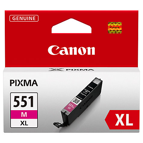 Buy Canon Inkjet Cartridge, Magenta, CLI-551XL Online at johnlewis.com