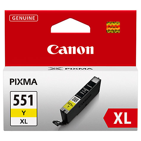Buy Canon Inkjet Cartridge, Yellow, CLI-551XL Online at johnlewis.com