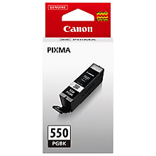 Buy Canon Cartridge, Pigment Black, PGI-550PGBK Online at johnlewis.com