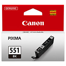 Buy Canon Inkjet Cartridge, Black, CLI-551BK Online at johnlewis.com