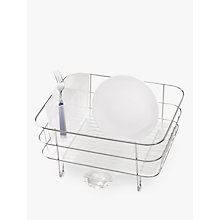 Buy simplehuman Compact Dish Drainer, Stainless Steel Online at johnlewis.com
