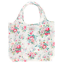 Buy Cath Kidston Foldaway Shopping Bag, Trailing Floral Online at johnlewis.com