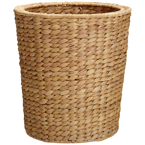 Buy John Lewis Water Hyacinth Wastepaper Bin Online at johnlewis.com