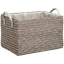 Buy John Lewis Set of 3 Wheat Straw Baskets, Grey Online at johnlewis.com