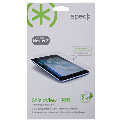 Buy Speck ShieldView, Screen Protector for Nexus 7 (2012), Matte Finish Online at johnlewis.com