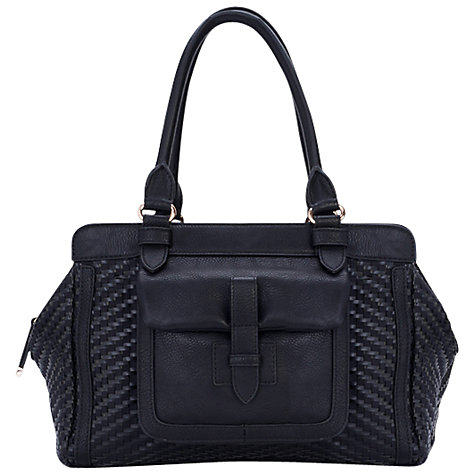 Buy French Connection Tippy Weave Tote, Black Online at johnlewis.com