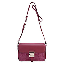 Buy French Connection Croc Leather Cross Body Handbag Online at johnlewis.com
