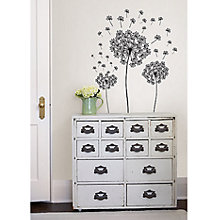 Buy Dandelion Wall Sticker, Black Online at johnlewis.com