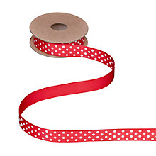 Buy John Lewis Polka Dot Grosgrain Ribbon, 5m Online at johnlewis.com