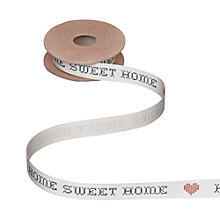 Buy John Lewis Home Sweet Home Ribbon, 5m, Cream Online at johnlewis.com