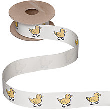 Buy John Lewis Duck Ribbon, Cream, 5m Online at johnlewis.com