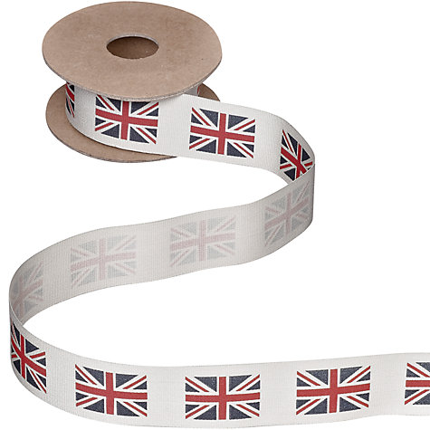 Buy John Lewis Union Jack Chunky Ribbon, 5m Online at johnlewis.com