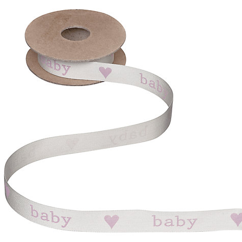 Buy John Lewis Heart Baby Ribbon, 5m Online at johnlewis.com