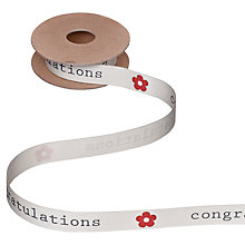 Buy John Lewis Congratulations Ribbon, 5m, Cream Online at johnlewis.com