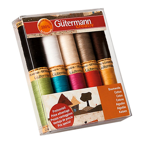 Buy Gutermann Cotton Threads, Pack of 10, Multi Online at johnlewis.com