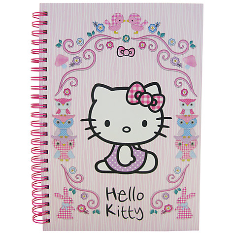 Buy Hello Kitty Woodland Animals A5 Notebook, Pink Online at johnlewis.com