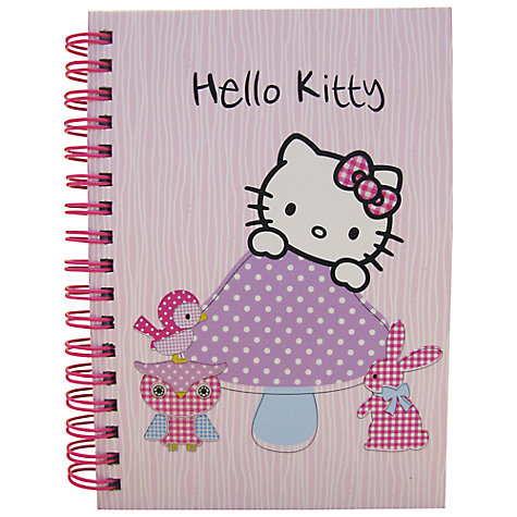 Buy Hello Kitty Woodland Animals A6 Notebook, Pink Online at johnlewis.com