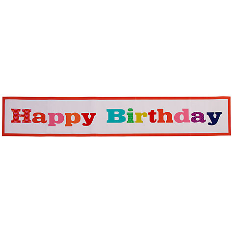 Buy Talking Tables Birthday Bash Giant Birthday Banner Online at johnlewis.com