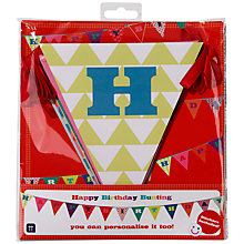 Buy Talking Tables Birthday Bash Birthday Bunting, L4m Online at johnlewis.com