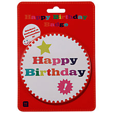 Buy Talking Tables Birthday Bash Big Badge, Multi Online at johnlewis.com