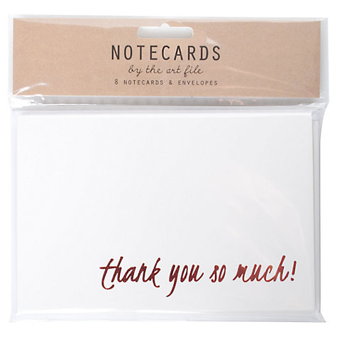 Buy Art File Foiled Thank You Notecards, Pack of 8 Online at johnlewis.com