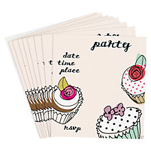 Buy Caroline Gardner Cupcake Party Invitations, Pack of 10 Online at johnlewis.com