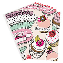 Buy Caroline Gardner Cupcake Thank You Cards, Pack of 8 Online at johnlewis.com