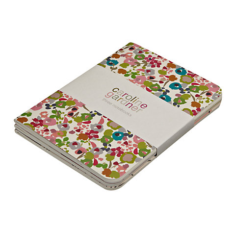 Buy Caroline Gardner Ditsy Jotter Notebooks, Pack of 3 Online at johnlewis.com