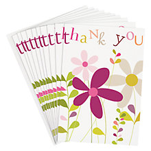 Buy Caroline Gardner Flower Stem Thank You Cards, Pack of 10 Online at johnlewis.com