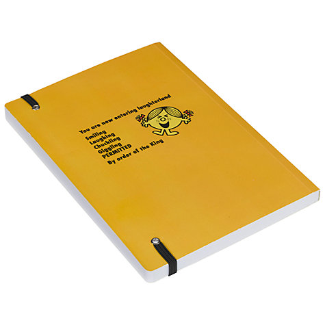 Buy Mr Men Little Miss Sunshine A5 Notebook, Yellow Online at johnlewis.com