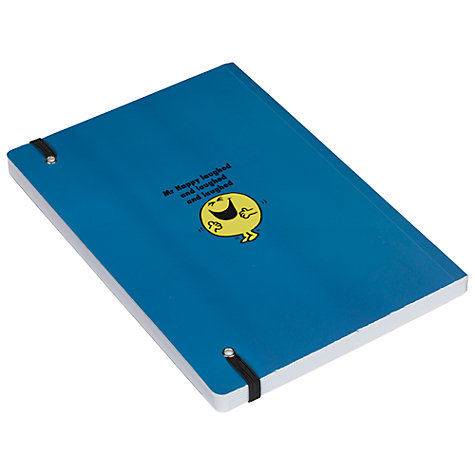 Buy Mr Men Mr Happy A5 Notebook, Blue Online at johnlewis.com
