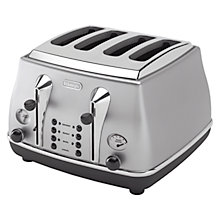 Buy De'Longhi CTO4003 Icona Toaster, 4-Slice, Silver Online at johnlewis.com
