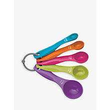 Buy Kitchen Craft Colourworks 5 Piece Measuring Spoon Set, Multi Online at johnlewis.com