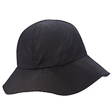 Buy John Lewis Wide Brim Rain Hat, Black Online at johnlewis.com