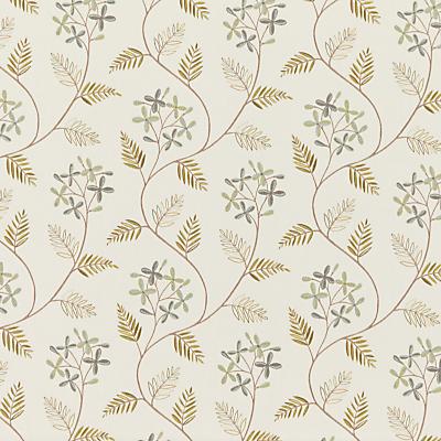 John Lewis Leaf Sprig Furnishing Fabric, Duck Egg