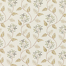 Buy John Lewis Leaf Sprig Fabric, Duck Egg Online at johnlewis.com