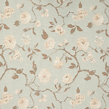 Buy John Lewis Linen Rose Furnishing Fabric, Duck Egg Online at johnlewis.com