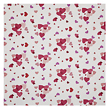 Buy John Lewis Love Hearts Fabric, Pink/Purple Online at johnlewis.com