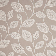Buy John Lewis Ovate Leaf Fabric, White Online at johnlewis.com