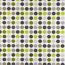 Buy John Lewis Great Spot PVC Tablecloth Fabric, Lime Online at johnlewis.com