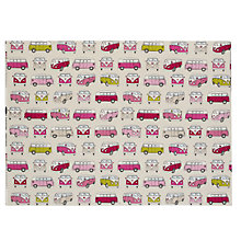 Buy John Lewis Camper Vans Fabric, Pink Online at johnlewis.com